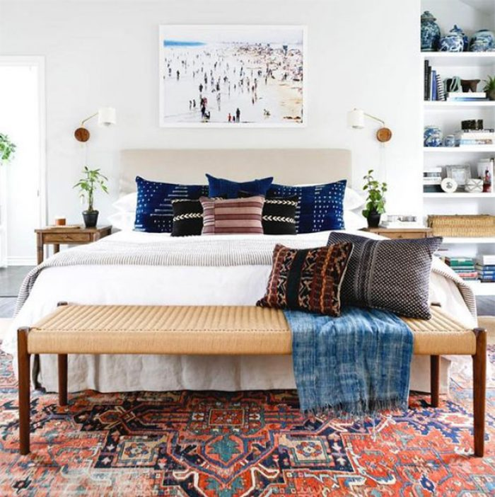 Different Ways to Style the End of Your Bed